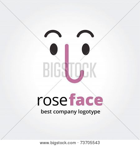 Abstract face logo icon concept isolated on white background for business design. Key ideas is busin