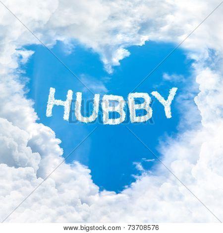 Love Husband Word On Blue Sky