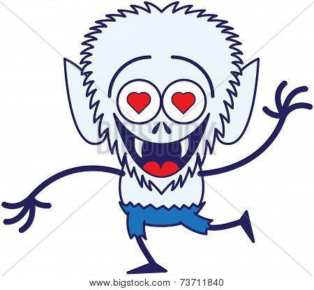 Cute Halloween werewolf in love