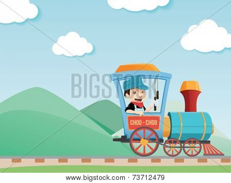Train Driver illustration