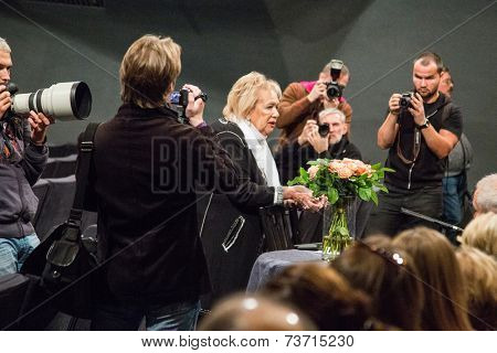 MOSCOW - OCTOBER, 1: Galina Borisovna Volchek. Opening Season. Troupe of Theatre Meeting.