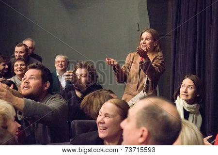 MOSCOW - OCTOBER, 1: Svetlana Ivanova. Opening Season. Troupe of Theatre Meeting.