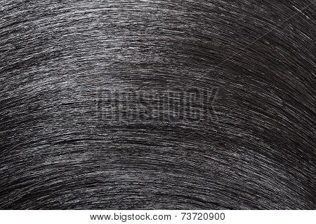 Closeup Black Hair As Background.