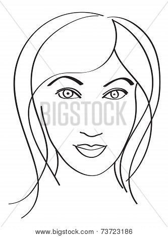 Simple Woman's Face