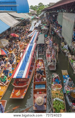 Damnoen saduak floating market  in Ratchaburi
