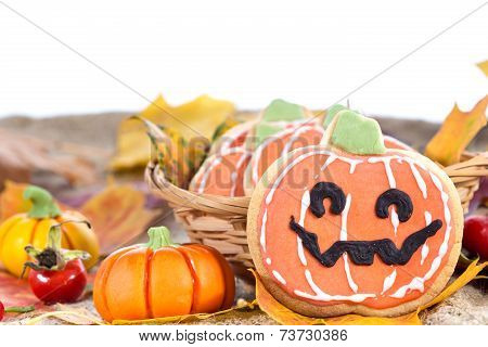 Halloween Decor Pumpkin Cookies