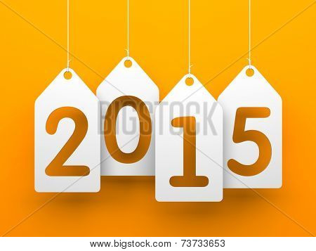 White tags with 2015