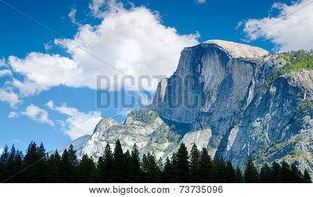 Half Dome Peak in Yosemite National Park, California USA