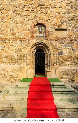 Red carpet to the church