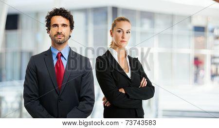 Portrait of business partners