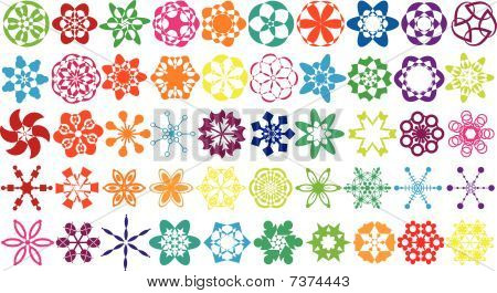 Colorful vector ornament collection