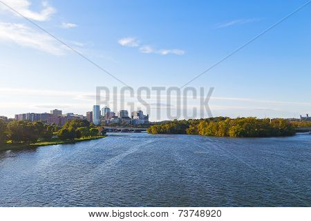 City skyline of Arlington Virginia