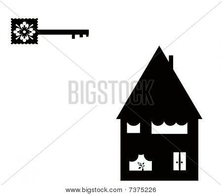 Key And House Illustration