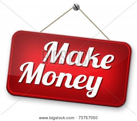 easy monay making or earning fast and easy cash make a business profit growth