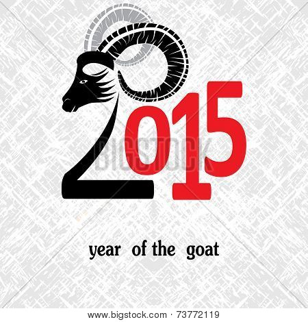 Chinese Symbol Vector Goat 2015 Year Illustration Image Design.