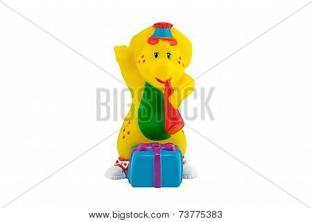 Bj The Yellow Dinosaur Figure Toy Wear A Birthdays  Costume