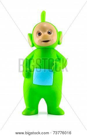 Dipsy The Green Alian Teletubby Character.