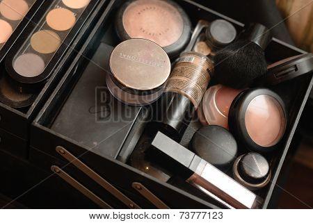 Set of professional make-up palette