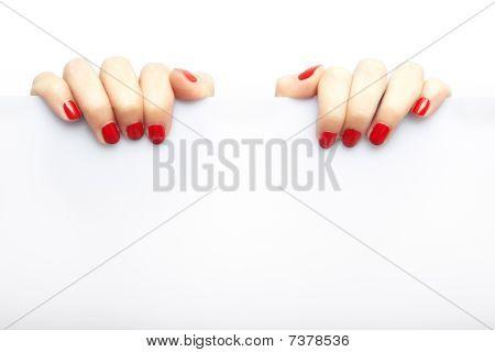 Fingers And Blank Billboard