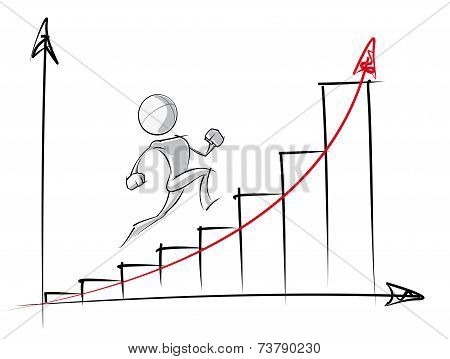 Simple People - Exponential Growth Chart