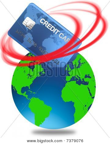 world credit in the red vector