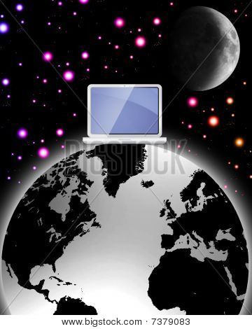 surreal world wide web vector