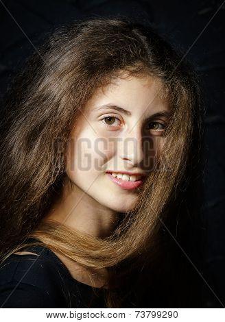 Cute Young Armenian Girl Posing In Studio