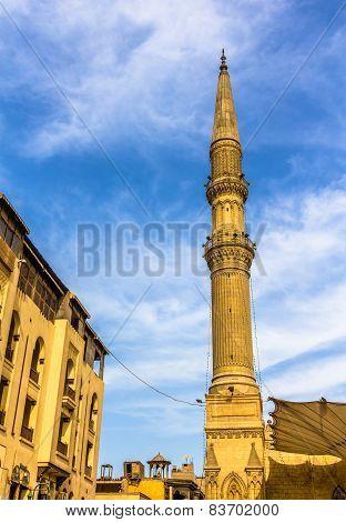 Minaret Of The Al-hussein Mosque In Cairo - Egypt
