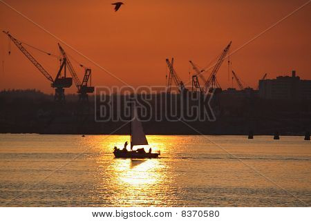 Sunset over Shipyard