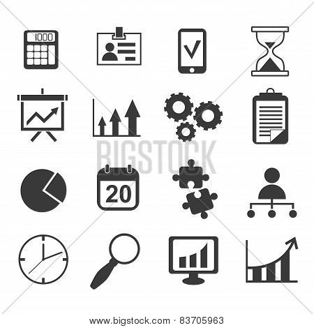 business analyst marketing icon vector set