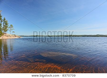 Wideangle Panorama of Lakeside