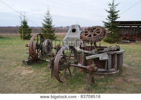millstones of a windmill