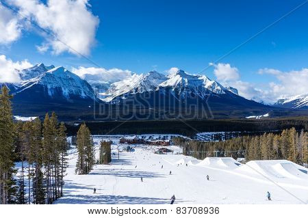Winter Skiing At Lake Louise In Canada
