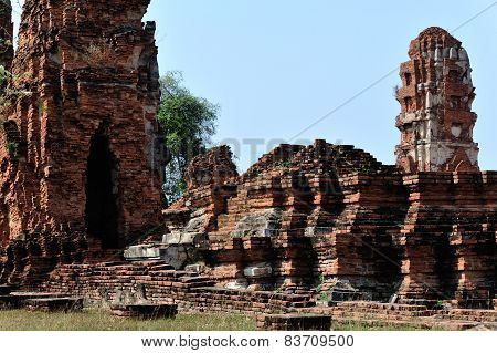 ancient temple at ayutthaya ,Thailand.