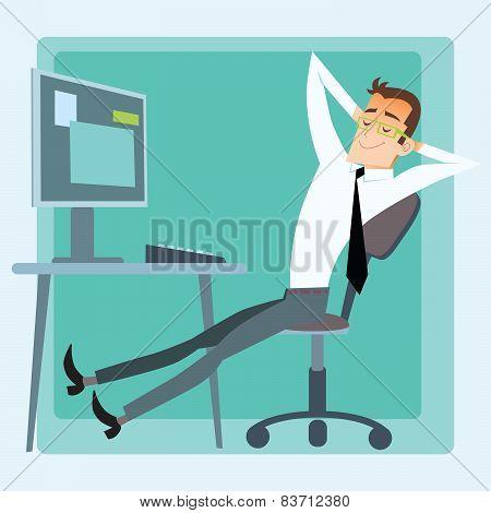 Worker Office Rest Computer