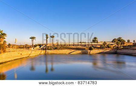 The Sacred Lake In The Precinct Of Amun-re - Luxor, Egypt