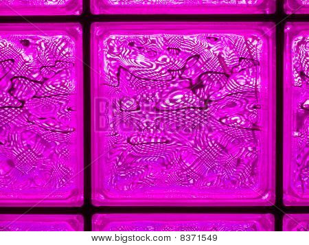 Abstract Of A Pink-tone Glass Block Window