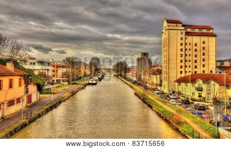 Marne - Rhine Canal In Nancy - Lorraine, France