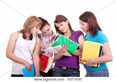 Group Of  Teenagers Studying