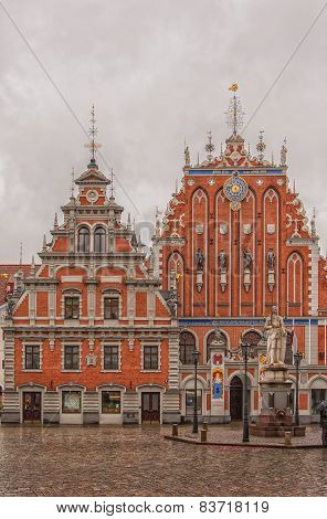 Riga The House Of Blackheads Frontage