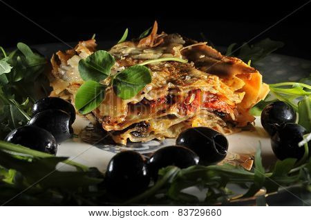 Clover And  Lasagna St.patricks Day Dish Irish-italian Style