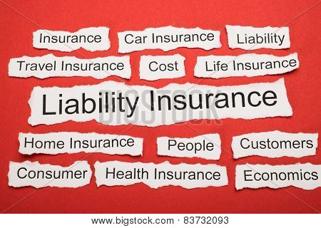 Liability Insurance Text On Piece Of Torn Paper