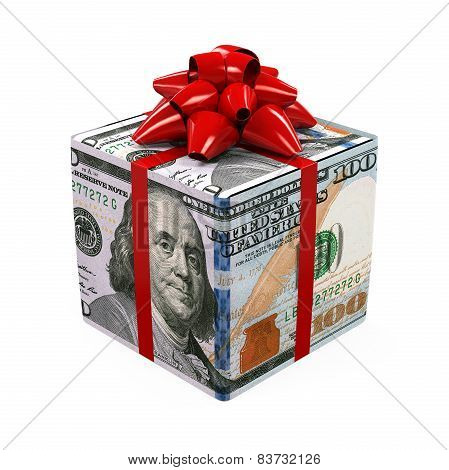 US Dollar Money Gift Box