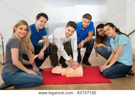Resuscitation Training Using First-aid Dummy