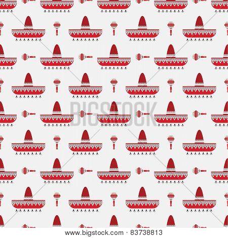 sombrero and maracas pattern