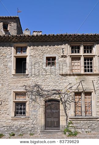 House in tThe ( Haute-Ville) medieval city at Vaison La Romain in the Vancluse Provence France. poster