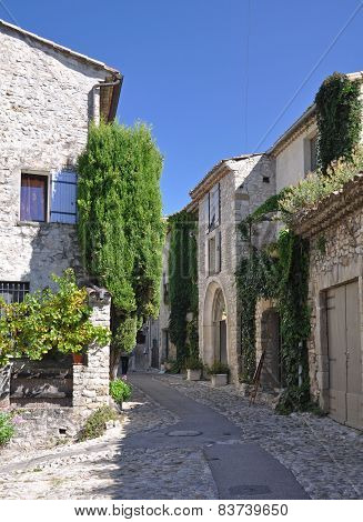 Rue des Fours in the ( Haute-Ville) medieval city at Vaison La Romain in the Vancluse Provence France. poster