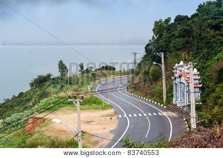 View On Road From Son Tra In Cloudy Day Danang City