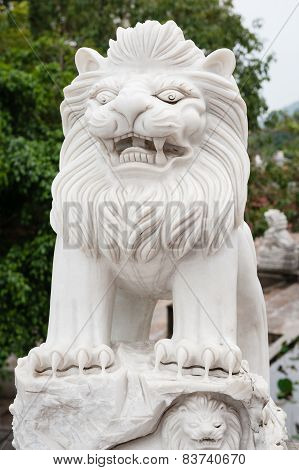Lion In Linh Ung Pagoda Vietnam Danang