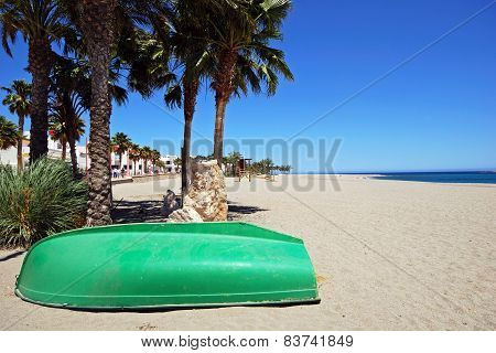 Boat on beach, Carboneras.